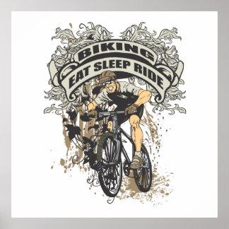 Coma, duerma, monte Biking Posters