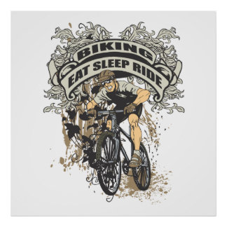 Coma, duerma, monte Biking Póster