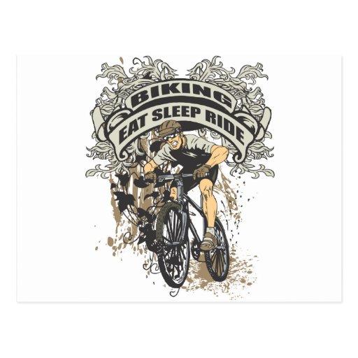 Coma, duerma, monte Biking Tarjeta Postal