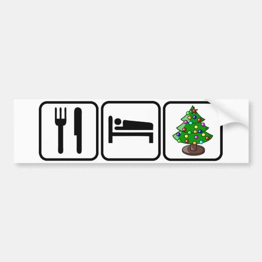 Coma, duerma, Navidad Pegatina Para Auto