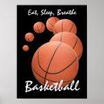 Coma, duerma, respire… el baloncesto póster