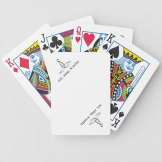 Coma duerma respire - el estilo de lujo negro baraja de cartas