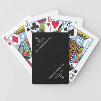 Coma duerma respire - el estilo regular blanco cartas de juego