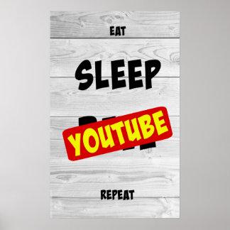 Coma, duerma, YouTube, repetición Póster