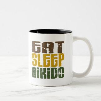 Coma el Aikido 1 del sueño Taza De Dos Tonos