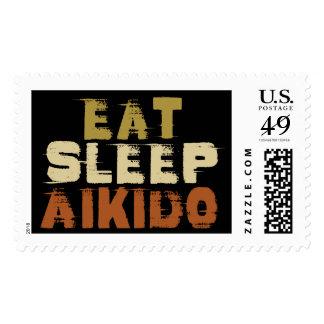 Coma el Aikido del sueño Sello Postal