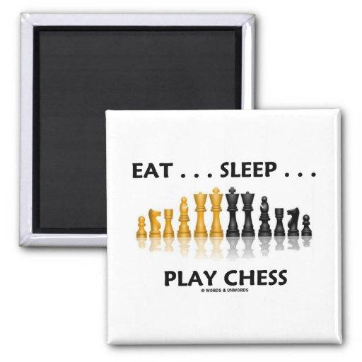Coma… el ajedrez del juego del sueño… (la actitud  imán para frigorifico