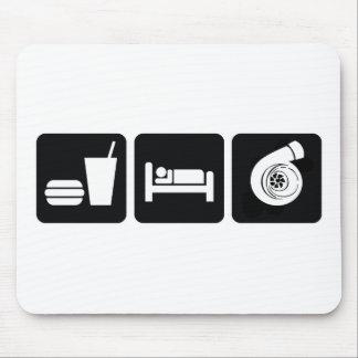 Coma el alza del sueño tapete de ratón