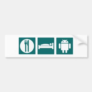 Coma el androide del sueño pegatina para auto