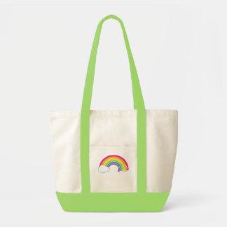 ¡Coma el arco iris! Bolsa Tela Impulso