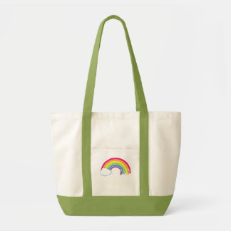 ¡Coma el arco iris! Bolsas Lienzo