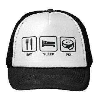 Coma el arreglo del sueño gorros