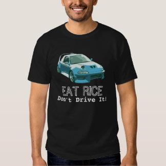 ¡Coma el arroz - no lo conduzca! Remeras