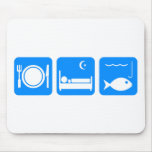 Coma el azul de los pescados del sueño tapetes de ratones