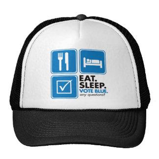 Coma el azul del voto del sueño gorro de camionero