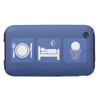 coma el baloncesto del sueño carcasa resistente para iPhone