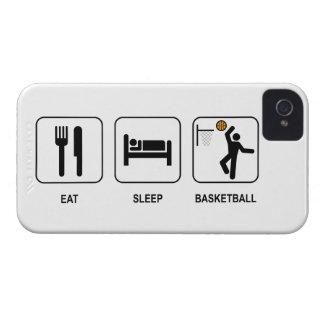 Coma el baloncesto del sueño iPhone 4 cárcasa