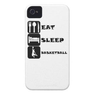 Coma el baloncesto del sueño Case-Mate iPhone 4 fundas