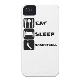 Coma el baloncesto del sueño iPhone 4 Case-Mate cárcasas