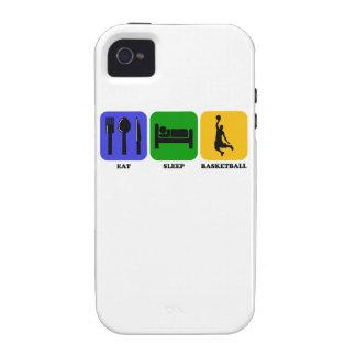 Coma el baloncesto del sueño iPhone 4/4S fundas