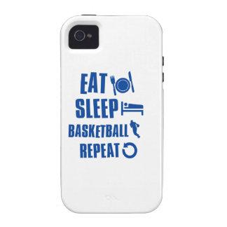 Coma el baloncesto del sueño iPhone 4/4S carcasa