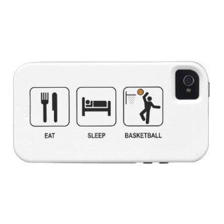 Coma el baloncesto del sueño iPhone 4 carcasas