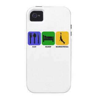 Coma el baloncesto del sueño vibe iPhone 4 funda