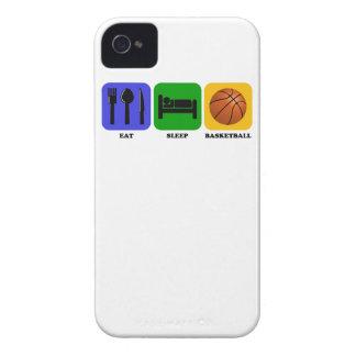 Coma el baloncesto del sueño iPhone 4 Case-Mate fundas