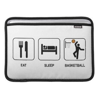 Coma el baloncesto del sueño funda  MacBook