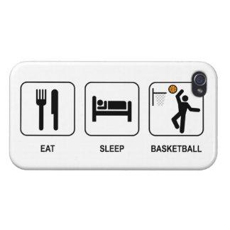 Coma el baloncesto del sueño iPhone 4 fundas