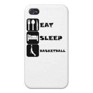 Coma el baloncesto del sueño iPhone 4/4S carcasas