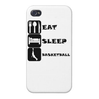 Coma el baloncesto del sueño iPhone 4 funda