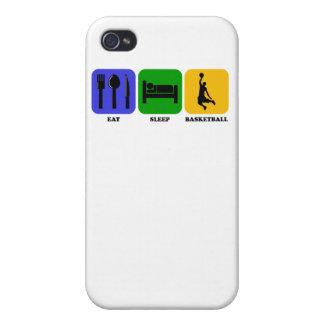 Coma el baloncesto del sueño iPhone 4 protectores