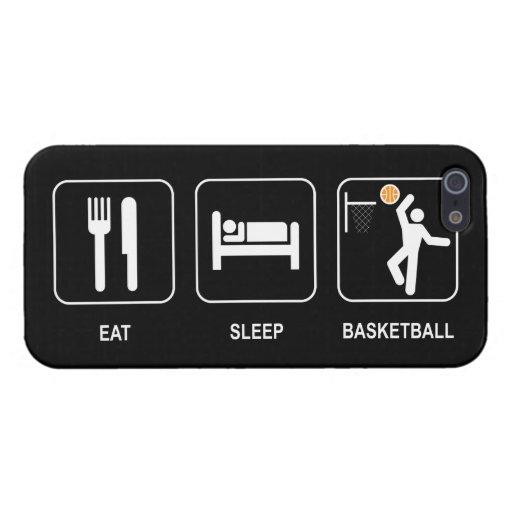 Coma el baloncesto del sueño iPhone 5 carcasa