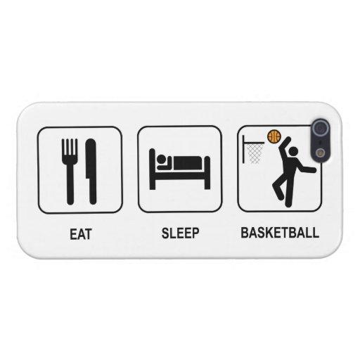 Coma el baloncesto del sueño iPhone 5 fundas