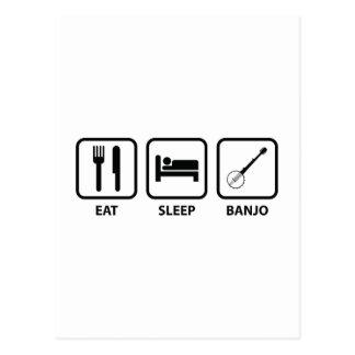 Coma el banjo del sueño tarjeta postal