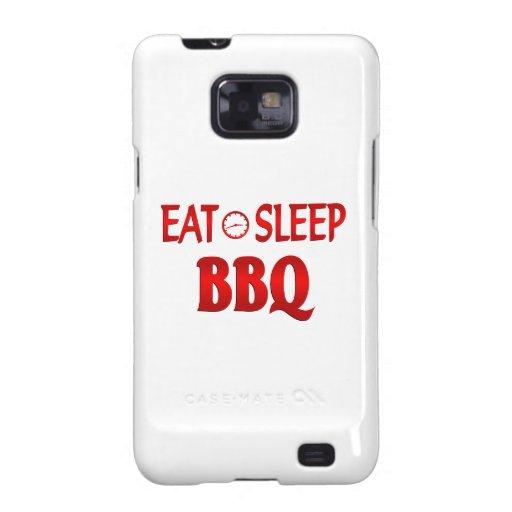 Coma el Bbq del sueño Galaxy S2 Carcasas
