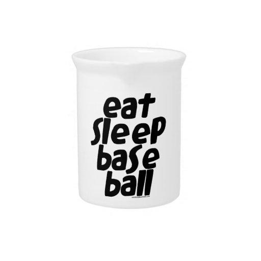 Coma el béisbol 2 del sueño jarron