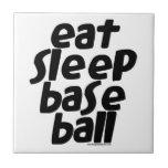 Coma el béisbol 2 del sueño teja  ceramica