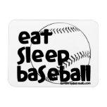Coma el béisbol 3 del sueño imanes rectangulares