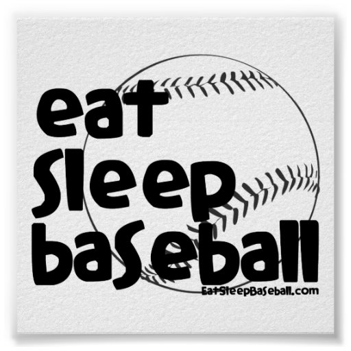 Coma el béisbol 3 del sueño póster