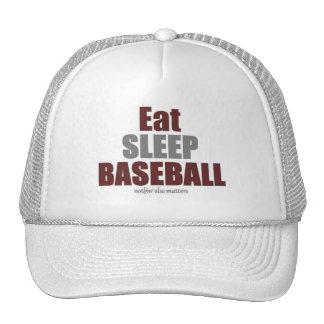 Coma el béisbol del sueño gorras