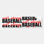 Coma el béisbol del sueño pegatina de parachoque