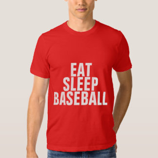 Coma el béisbol del sueño playera