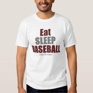 Coma el béisbol del sueño polera