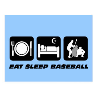 Coma el béisbol del sueño postal