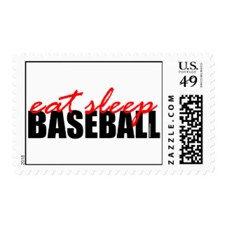 Coma el béisbol del sueño sellos