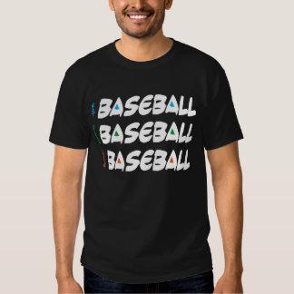 Coma el béisbol vivo del sueño - oscuridad playeras