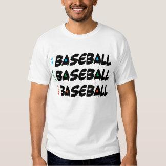 Coma el béisbol vivo del sueño poleras