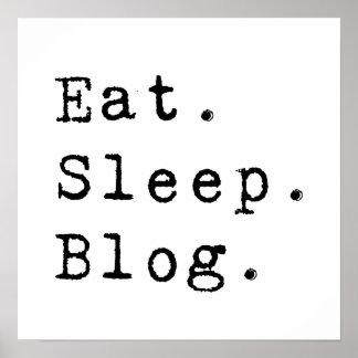 Coma el blog del sueño póster